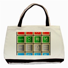 Set Of The Twelve Signs Of The Zodiac Astrology Birth Symbols Basic Tote Bag