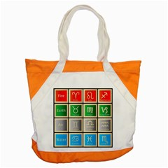 Set Of The Twelve Signs Of The Zodiac Astrology Birth Symbols Accent Tote Bag