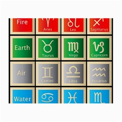 Set Of The Twelve Signs Of The Zodiac Astrology Birth Symbols Small Glasses Cloth (2 Side)