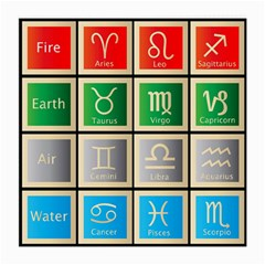 Set Of The Twelve Signs Of The Zodiac Astrology Birth Symbols Medium Glasses Cloth