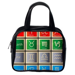 Set Of The Twelve Signs Of The Zodiac Astrology Birth Symbols Classic Handbags (one Side)