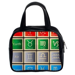 Set Of The Twelve Signs Of The Zodiac Astrology Birth Symbols Classic Handbags (2 Sides)