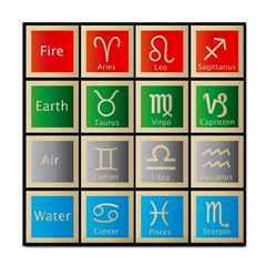 Set Of The Twelve Signs Of The Zodiac Astrology Birth Symbols Face Towel