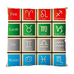 Set Of The Twelve Signs Of The Zodiac Astrology Birth Symbols Standard Cushion Case (one Side)