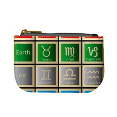 Set Of The Twelve Signs Of The Zodiac Astrology Birth Symbols Mini Coin Purses