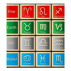 Set Of The Twelve Signs Of The Zodiac Astrology Birth Symbols Shower Curtain 66  X 72  (large)