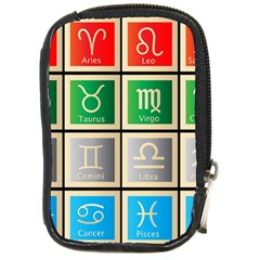 Set Of The Twelve Signs Of The Zodiac Astrology Birth Symbols Compact Camera Cases