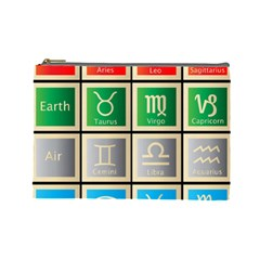Set Of The Twelve Signs Of The Zodiac Astrology Birth Symbols Cosmetic Bag (large)