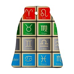 Set Of The Twelve Signs Of The Zodiac Astrology Birth Symbols Ornament (Bell)