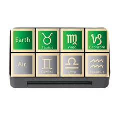 Set Of The Twelve Signs Of The Zodiac Astrology Birth Symbols Memory Card Reader With Cf