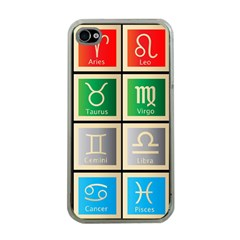 Set Of The Twelve Signs Of The Zodiac Astrology Birth Symbols Apple Iphone 4 Case (clear)