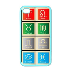Set Of The Twelve Signs Of The Zodiac Astrology Birth Symbols Apple Iphone 4 Case (color)