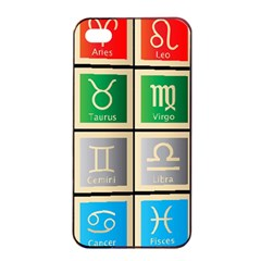 Set Of The Twelve Signs Of The Zodiac Astrology Birth Symbols Apple Iphone 4/4s Seamless Case (black)