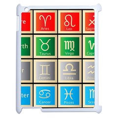 Set Of The Twelve Signs Of The Zodiac Astrology Birth Symbols Apple iPad 2 Case (White)