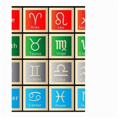 Set Of The Twelve Signs Of The Zodiac Astrology Birth Symbols Small Garden Flag (two Sides)