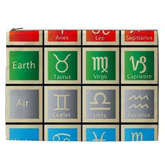 Set Of The Twelve Signs Of The Zodiac Astrology Birth Symbols Cosmetic Bag (xxl)