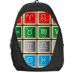 Set Of The Twelve Signs Of The Zodiac Astrology Birth Symbols Backpack Bag