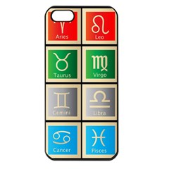 Set Of The Twelve Signs Of The Zodiac Astrology Birth Symbols Apple iPhone 5 Seamless Case (Black)