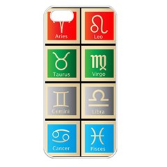 Set Of The Twelve Signs Of The Zodiac Astrology Birth Symbols Apple Iphone 5 Seamless Case (white)
