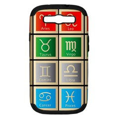 Set Of The Twelve Signs Of The Zodiac Astrology Birth Symbols Samsung Galaxy S Iii Hardshell Case (pc+silicone)
