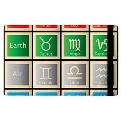 Set Of The Twelve Signs Of The Zodiac Astrology Birth Symbols Apple iPad 3/4 Flip Case