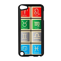 Set Of The Twelve Signs Of The Zodiac Astrology Birth Symbols Apple Ipod Touch 5 Case (black)