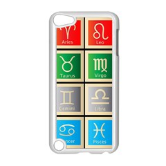 Set Of The Twelve Signs Of The Zodiac Astrology Birth Symbols Apple iPod Touch 5 Case (White)