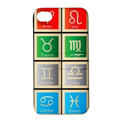 Set Of The Twelve Signs Of The Zodiac Astrology Birth Symbols Apple Iphone 4/4s Hardshell Case With Stand
