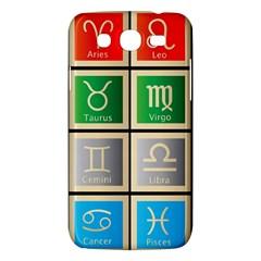 Set Of The Twelve Signs Of The Zodiac Astrology Birth Symbols Samsung Galaxy Mega 5 8 I9152 Hardshell Case