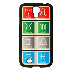 Set Of The Twelve Signs Of The Zodiac Astrology Birth Symbols Samsung Galaxy S4 I9500/ I9505 Case (black)