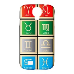 Set Of The Twelve Signs Of The Zodiac Astrology Birth Symbols Samsung Galaxy S4 Classic Hardshell Case (PC+Silicone)