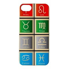 Set Of The Twelve Signs Of The Zodiac Astrology Birth Symbols Apple Iphone 5s/ Se Hardshell Case