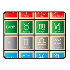 Set Of The Twelve Signs Of The Zodiac Astrology Birth Symbols Double Sided Fleece Blanket (small)