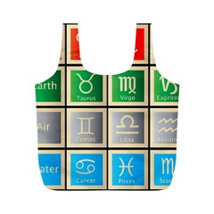 Set Of The Twelve Signs Of The Zodiac Astrology Birth Symbols Full Print Recycle Bags (M)