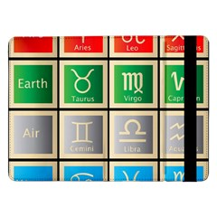 Set Of The Twelve Signs Of The Zodiac Astrology Birth Symbols Samsung Galaxy Tab Pro 12 2  Flip Case