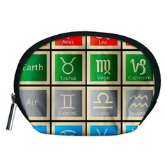 Set Of The Twelve Signs Of The Zodiac Astrology Birth Symbols Accessory Pouches (medium)