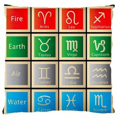 Set Of The Twelve Signs Of The Zodiac Astrology Birth Symbols Standard Flano Cushion Case (two Sides)