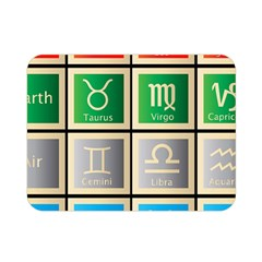 Set Of The Twelve Signs Of The Zodiac Astrology Birth Symbols Double Sided Flano Blanket (Mini)