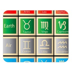 Set Of The Twelve Signs Of The Zodiac Astrology Birth Symbols Double Sided Flano Blanket (large)