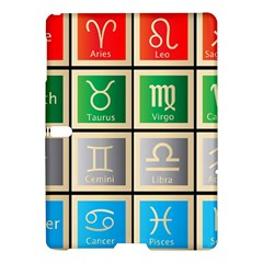 Set Of The Twelve Signs Of The Zodiac Astrology Birth Symbols Samsung Galaxy Tab S (10 5 ) Hardshell Case