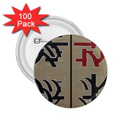 Xia Script On Gray Background 2 25  Buttons (100 Pack)