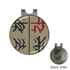 Xia Script On Gray Background Hat Clips With Golf Markers
