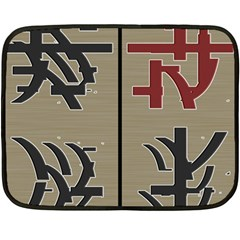 Xia Script On Gray Background Fleece Blanket (mini)