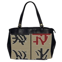 Xia Script On Gray Background Office Handbags (2 Sides)