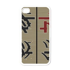 Xia Script On Gray Background Apple Iphone 4 Case (white)