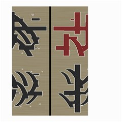 Xia Script On Gray Background Small Garden Flag (two Sides)
