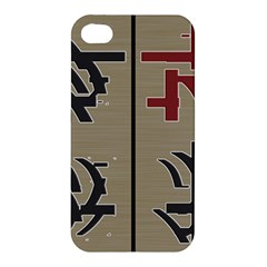 Xia Script On Gray Background Apple Iphone 4/4s Premium Hardshell Case