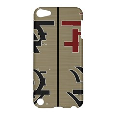 Xia Script On Gray Background Apple Ipod Touch 5 Hardshell Case