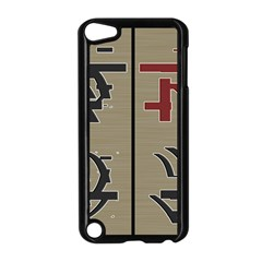 Xia Script On Gray Background Apple Ipod Touch 5 Case (black)