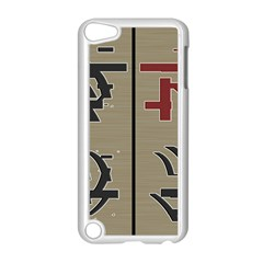 Xia Script On Gray Background Apple Ipod Touch 5 Case (white)